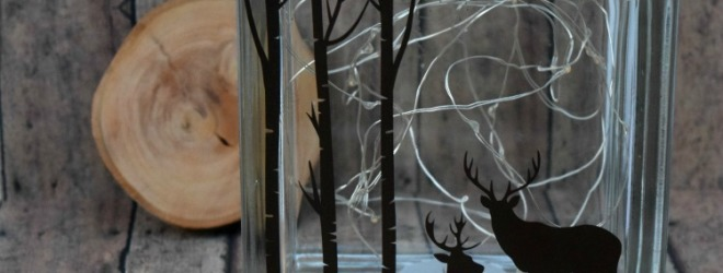 Deer Silhouette Glass Block Tutorial