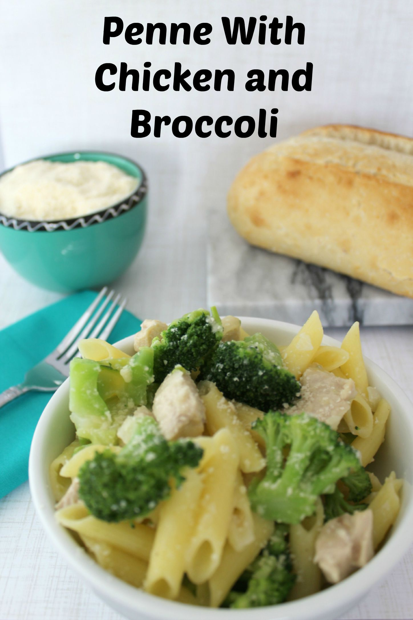 Parmesan Penne with Chicken & Broccoli - Everyday Southern ...